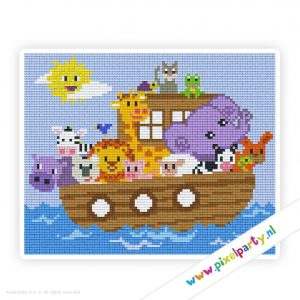 4a_013_pixelhobby_patroon_dier_boot_ark