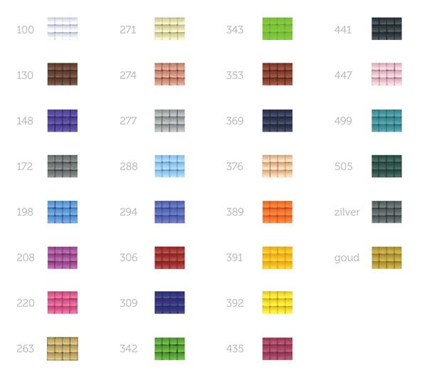 Pixelhobby kleurenpalet