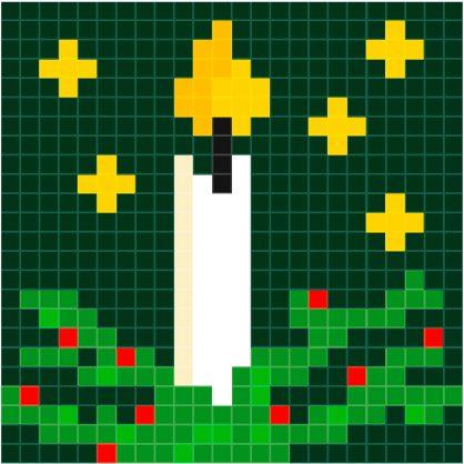 patroon-kerst-kaars1