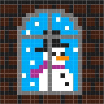 patroon-raam-sneeuwpop