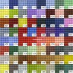 Pixelhobby matjes kleuren 100 – 204