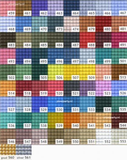 Pixelhobby matjes kleuren 459 – 561