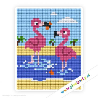 1a_001_pixelhobby_patroon_dier_flamingo