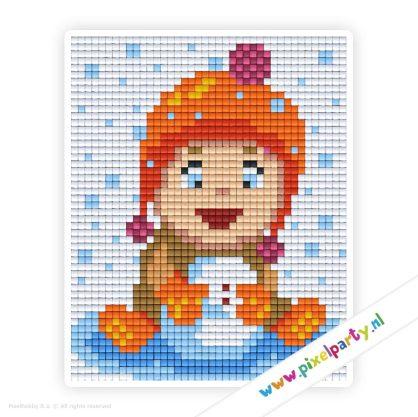 1b_085_pixelhobby_patroon_feest_winter_poppetje_sneeuwbal