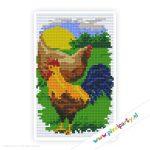 2a_069_pixelhobby_patroon_dier_kip_haan