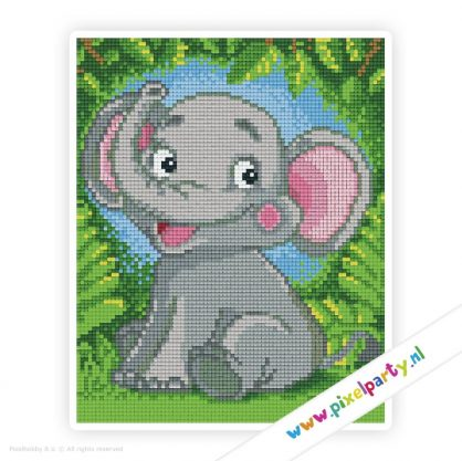 4a_016_pixelhobby_patroon_dier_olifant