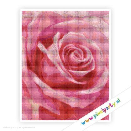 4a_027_pixelhobby_patroon_bloemen_roze_roos