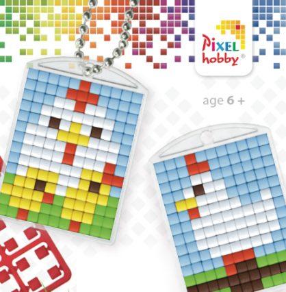 pixelhobby-medaillons-pasen-kip-kuikens