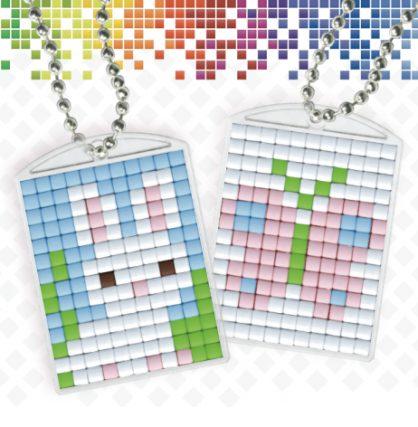 pixelhobby-medaillons-pasen-konijn-vlinder