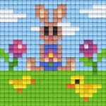 pixelhobby-patroon-paashaas-kuikens