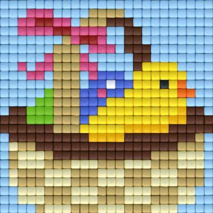 pixelhobby-patroon-pasen-mand-kuiken