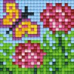 pixelhobby-patroon-vlinder-bloemen