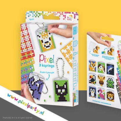 pixelhobby-medaillon-sleutelhanger-set-dieren